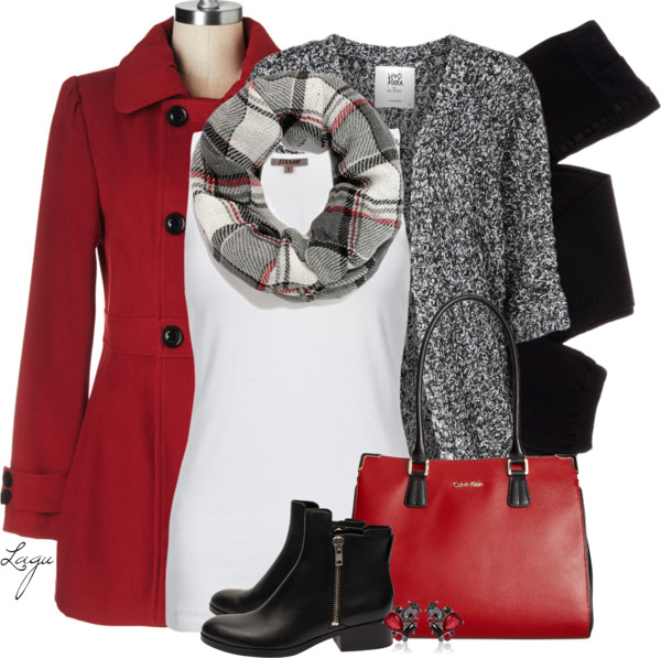 red_pea_coat_and_black_fall_outfit_combination_outfitspedia
