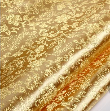90cm_100cm_antique_brocade_fabric_dragon_costume_fabric_clothing_fabric_light_golden_brocade_bottom_golden_dragon